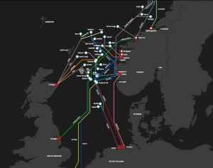 RØRLEDNINGENE: Slik tar norsk gass veien ut i Europa via rørledninger. Foto: GASSCO (pressebilde)