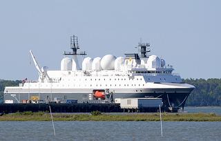 SPIONSKIPET: Norges nye topphemmelige spionskip, Marjata, som skal være klart til neste år i Barentshavet, blir ferdigstilt i USA.