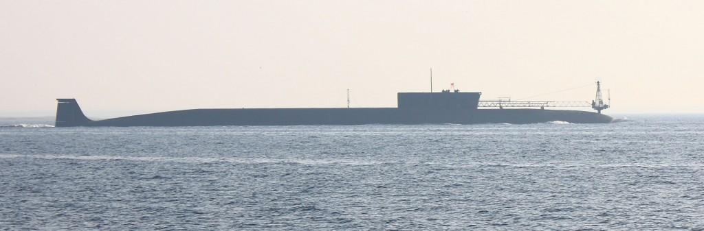 """SLAGKRAFT: Det er ombord i K-535 """"Jurij Dolgorukij"""" og to andre Borei-klasse ubåter Russland har sine nye atommissiler, mener Russlands-ekspert. Foto: WIKIMEDIA COMMONS"""