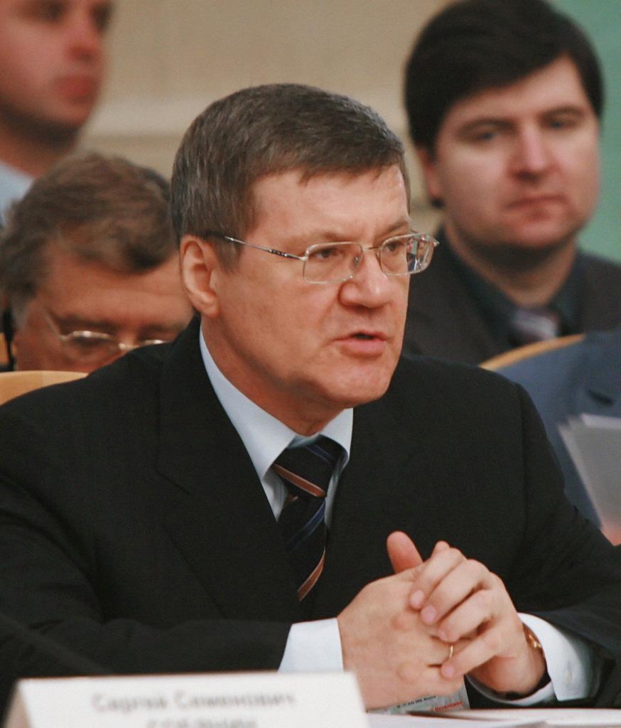 Russlands riksadvokat Jurij Tsjaika. FOTO: WIKIMEDIA COMMONS