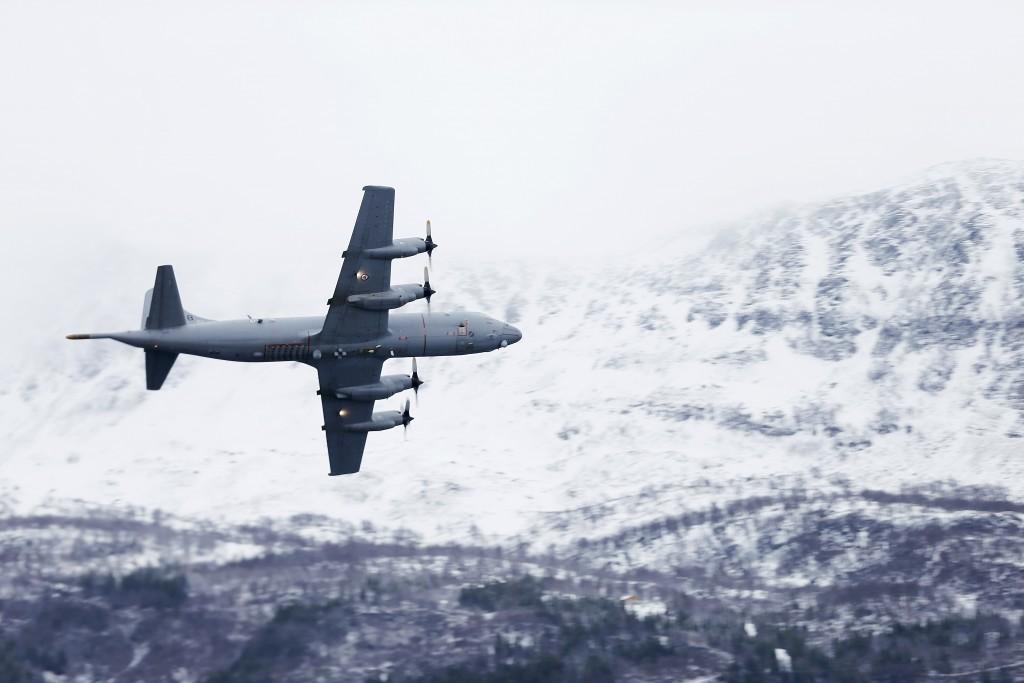Et Orion fly fra 333 skvadronen under vinterøvelsen Cold Response 2014. Foto: TORBJØRN KJOSVOLD/FORSVARET