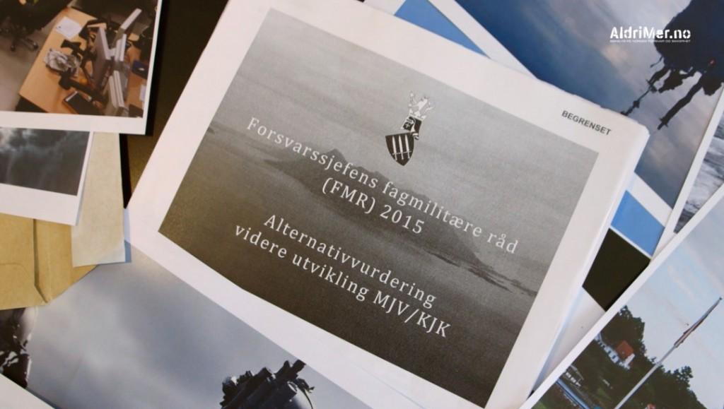 UTREDNING: I dette forsvarsinterne dokumentet er mulige konsekvenser knyttet til en nedleggelse av Kystjegerkommanden og Marinens jegervåpen vurdert nærmere. Foto: ALDRIMER.NO