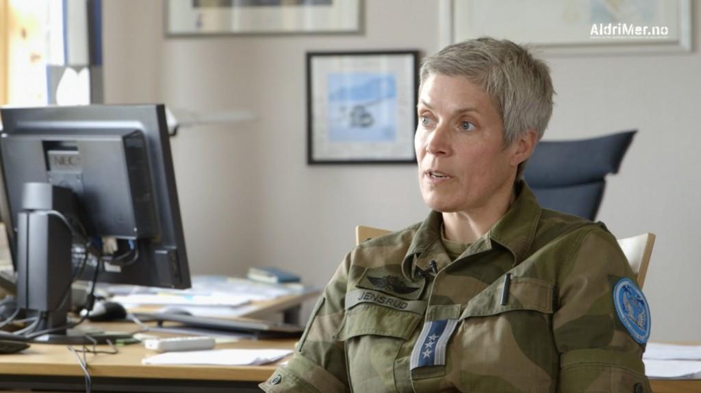 VIKTIG NATO-BIDRAG: Luftvingsjef Ingvild Jensrud i 133 Luftving på Andøya slår fast at Orion-flyenes overvåkingskapasitet er viktig som del av Norges løpende etterretningsbidrag til NATO. Foto: ALDRIMER.NO