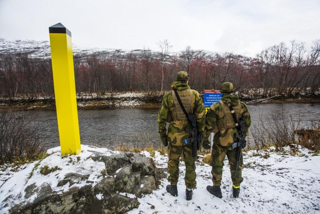 Grensejegere fra OP tårn 247 patruljerer langs grensa til Russland. Foto: MATS GRIMSÆTH/FORSVARET