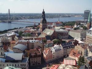 RIGA: Hovedstaden i Latvia har en betydelig andel russiske innbyggere. Foto: DAVID HOLT/WIKIPEDIA COMMONS
