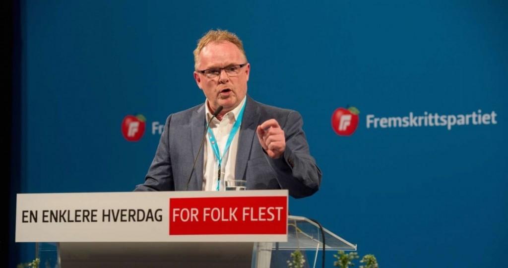 JOKER: Frps rabulist, nestleder Per Sandberg, har som leder av redaksjonskomiteen en nøkkelrolle på landsmøtet til Frp. Foto: FRP