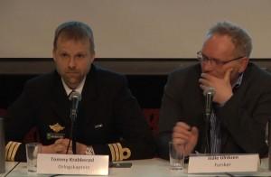 DEBATT: Tommy Krabberød deltok i debatten om Forsvaret på Litteraturhuset i Oslo 19. april 2016. Foto: SKJERMDUMP FRA DIREKTESENDING/ALDRIMER.NO