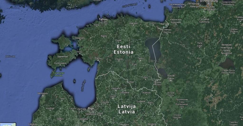 KARTLEGGING: Russiske diplomater har kartlagt bruene langs hovedveien fra den estisk-russiske grensen i sørøst og nordvest - inn i Estland. Foto: Google maps