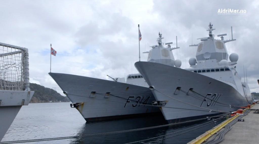 Fregatter ved kai ved Haakonsvern. Foto: ALDRIMER.NO