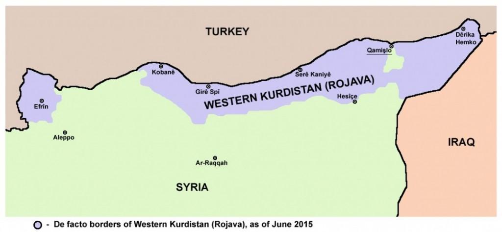 ROJAVA: Fremmedkrigerne kjemper på kurdisk side helt nord i Syria, i det kurdiskkontrollerte området kalt «Rojava». Foto: WIKIPEDIA COMMONS