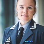 Pressetalskvinne for forsvarssjefen, major Linn Therece Johansen. Foto: FORSVARET