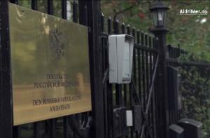 AMBASSADEN: Den russiske ambassaden i Oslo. Foto: ALDRIMER.NO