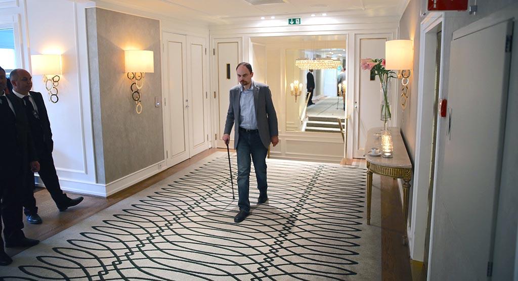 BLE FORGIFTET: Den russiske politikeren og journalisten Vladimir Kara-Murza overlevde marerittet. I mai 2015 ble han forsøkt drept ved hjelp av en ukjent giftblanding. Her besøker han Oslo Freedom Forum i mai 2016. Foto: KJETIL STORMARK
