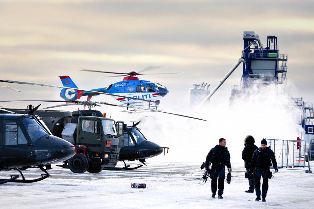 Forsvaret bistår Politiet med helikoptre under utdelingen av Nobels Fredspris i Oslo desember 2012. Foto: PEDER TORP MATHISEN/FORSVARET