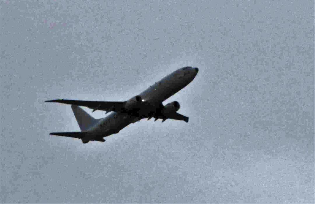POSEIDON P8: Dette flyet landet torsdag på Andøya. Forsvaret avviser at hendelsen kan knyttes til den mulige ubåtobservasjonen i forrige uke. Foto: PRIVAT
