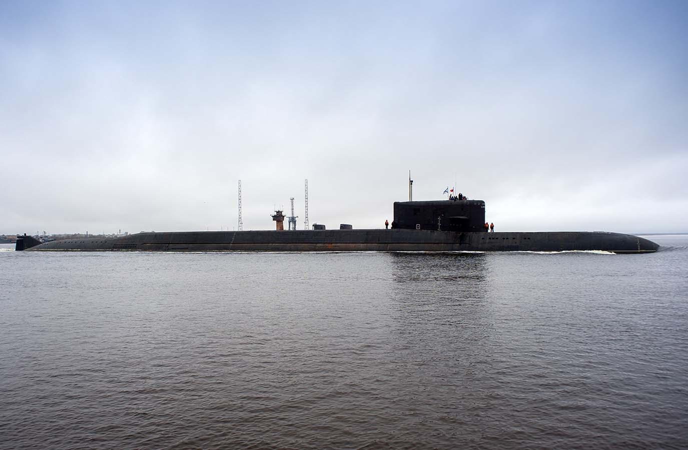 UBÅTEN: BS-64 «Podmoskovje» ble bygget under navnet «K-64» i 1986 ved skipsverftet Sevmash i Severodvinsk, ikke langt fra Arkhangelsk i Nordvest-Russland. Nå er ubåten bygget om for å kunne frakte mini-ubåter til forskningsformål. Foto: OLEG KULESJOV