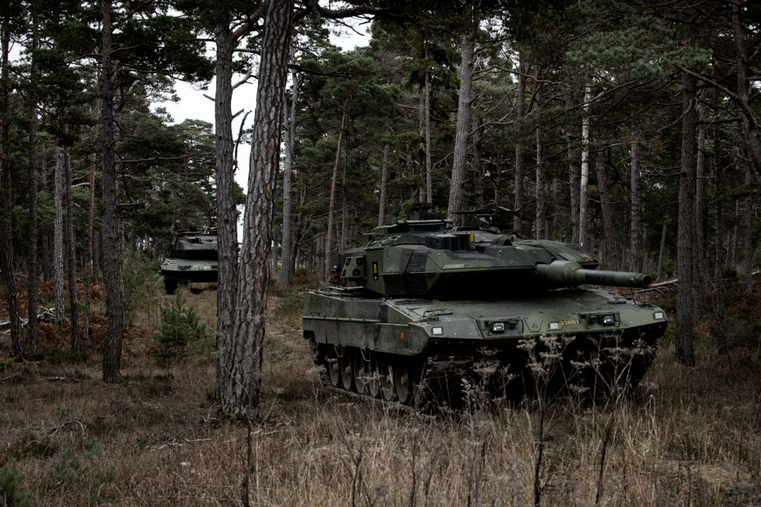 Wartofta stridsvagnskompani genomför stridsskjutningar upp till kompanis storlek med stridsvagn 122. Wartofta kompani tillhör Skaraborgs regemente som övade nationellt försvar av Gotland under vecka 45.