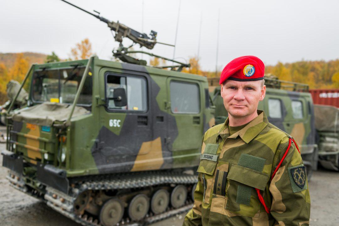 Talsmann for Hæren, oberstløytnant Ole Johan Skogmo. Foto: FORSVARET