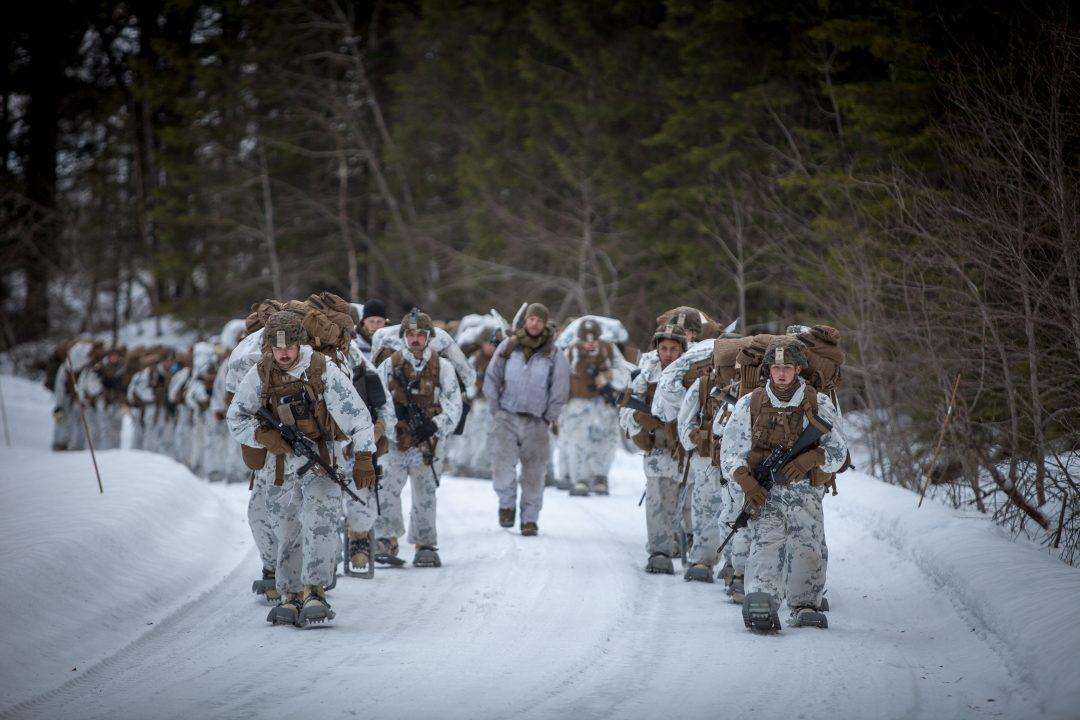 AMERIKANSKE SOLDATER: U.S. Marine Corps på øvelse i Norge. Men nå advarer altså NATOs generalsekretær USA mot å forlate alliansen. Foto: PHILIP KARLSEN MC GOWAN/FORSVARET