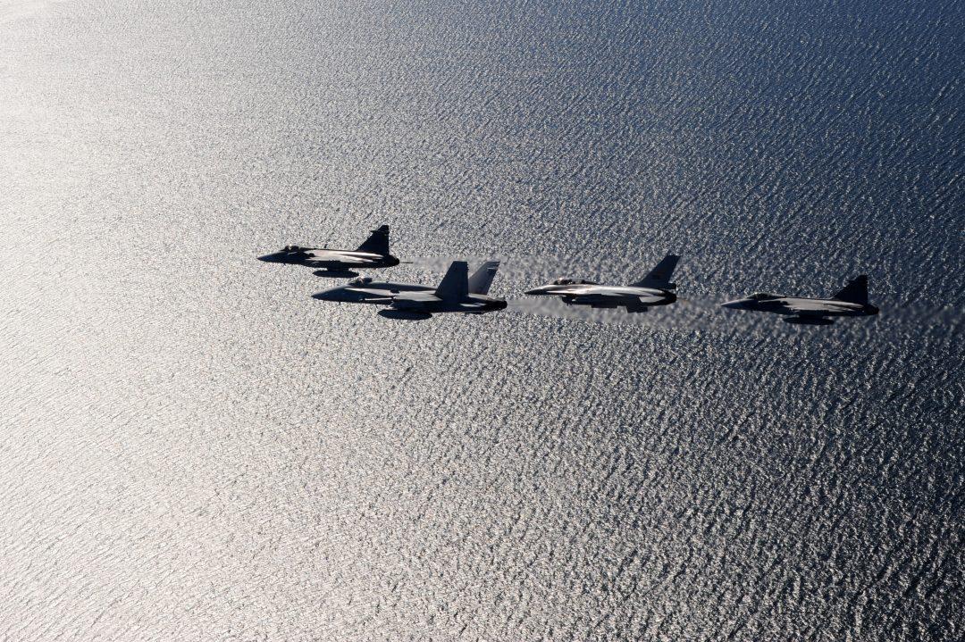 JAS GRIPEN: Også luftforsvaret vurderer svenskene å styrke. Foto: LOUISE LEVIN/FÖRSVARSMAKTEN