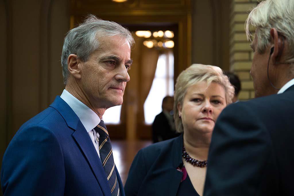 ENIGE? Arbeiderpartiets leder Jonas Gahr Støre og statsminister Erna Solberg (Høyre) skal være enige om hovedtrekkene i langtidsplanen for Forsvaret. Foto: ARBEIDERPARTIET