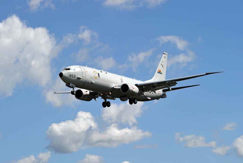 NORGES NYE OVERVÅKINGSFLY: Boeing P-8 Poseidon er et ombygd Boeing 737. Foto: BOEING