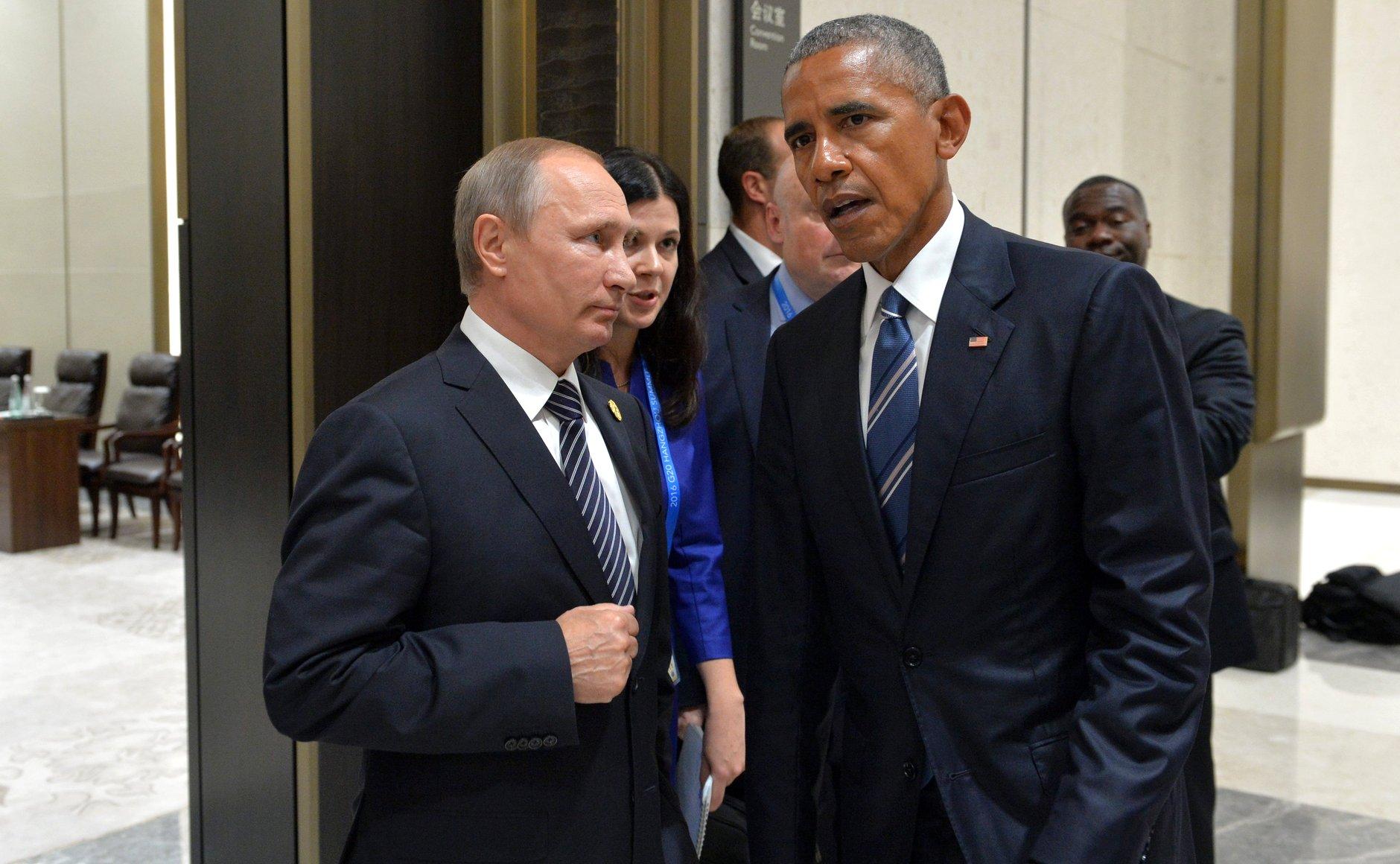 DÅRLIG STEMNING: Forholdet mellom Vladimir Putin og Barack Obama er iskaldt. Den russiske innblandingen i USAs presidentvalg har ytterligere forverret forholdet mellom de to landene. Foto: KREMLIN.RU