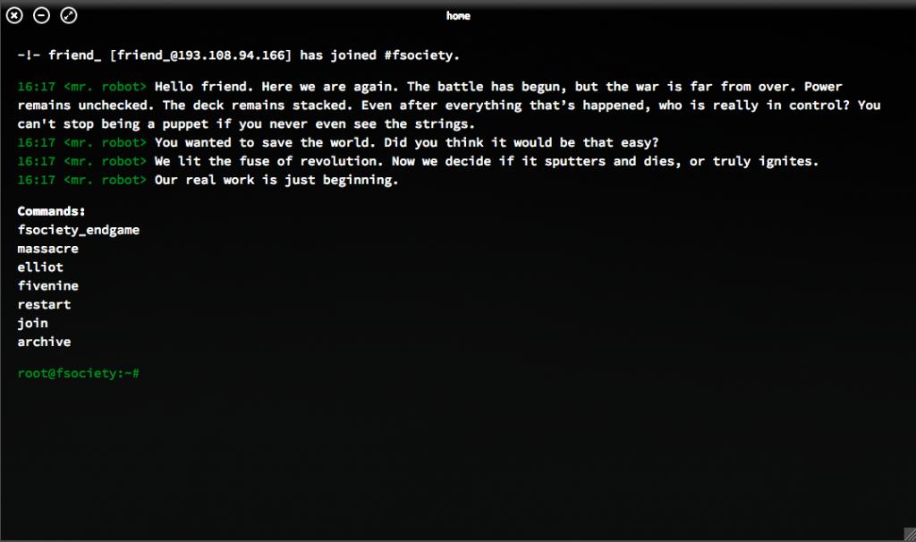 APPELL: Her er beskjeden fra hackerne. Skjermdump: WHOISMRROBOT.COM