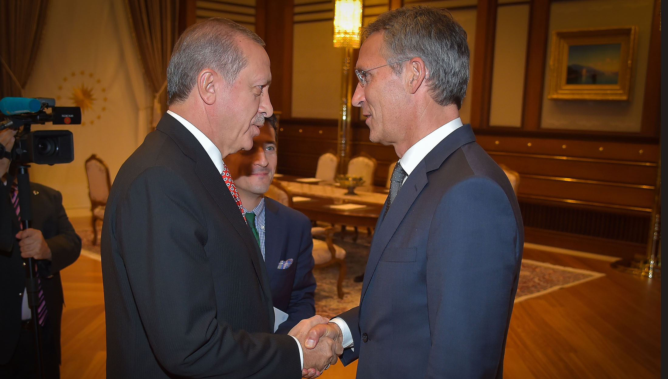 NATO Secretary General Jens Stoltenberg meets with the President of Turkey, Recep Tayyip Erdogan September 8, 2016. Photo: NATO