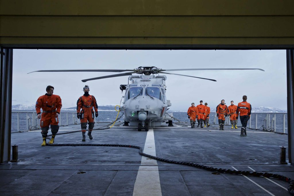 NH90: Et norsk NH90-helikopter om bord på Kystvaktfartøyet KV Senja. Foto: TORGEIR HAUGAARD/FORSVARETS MEDIESENTER