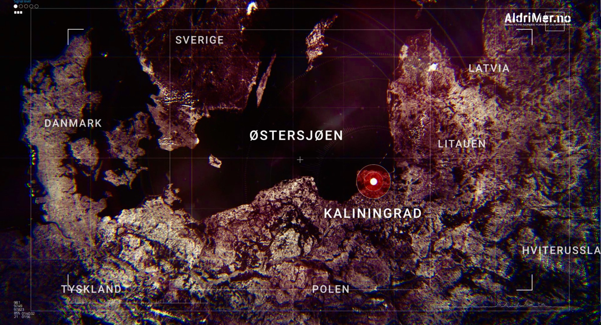 The Baltic region and the Russian military enclave Kaliningrad. Photo: ALDRIMER.NO