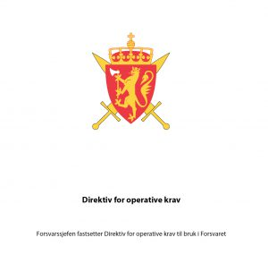Direktiv for operative krav. Faksimile: ALDRIMER.NO