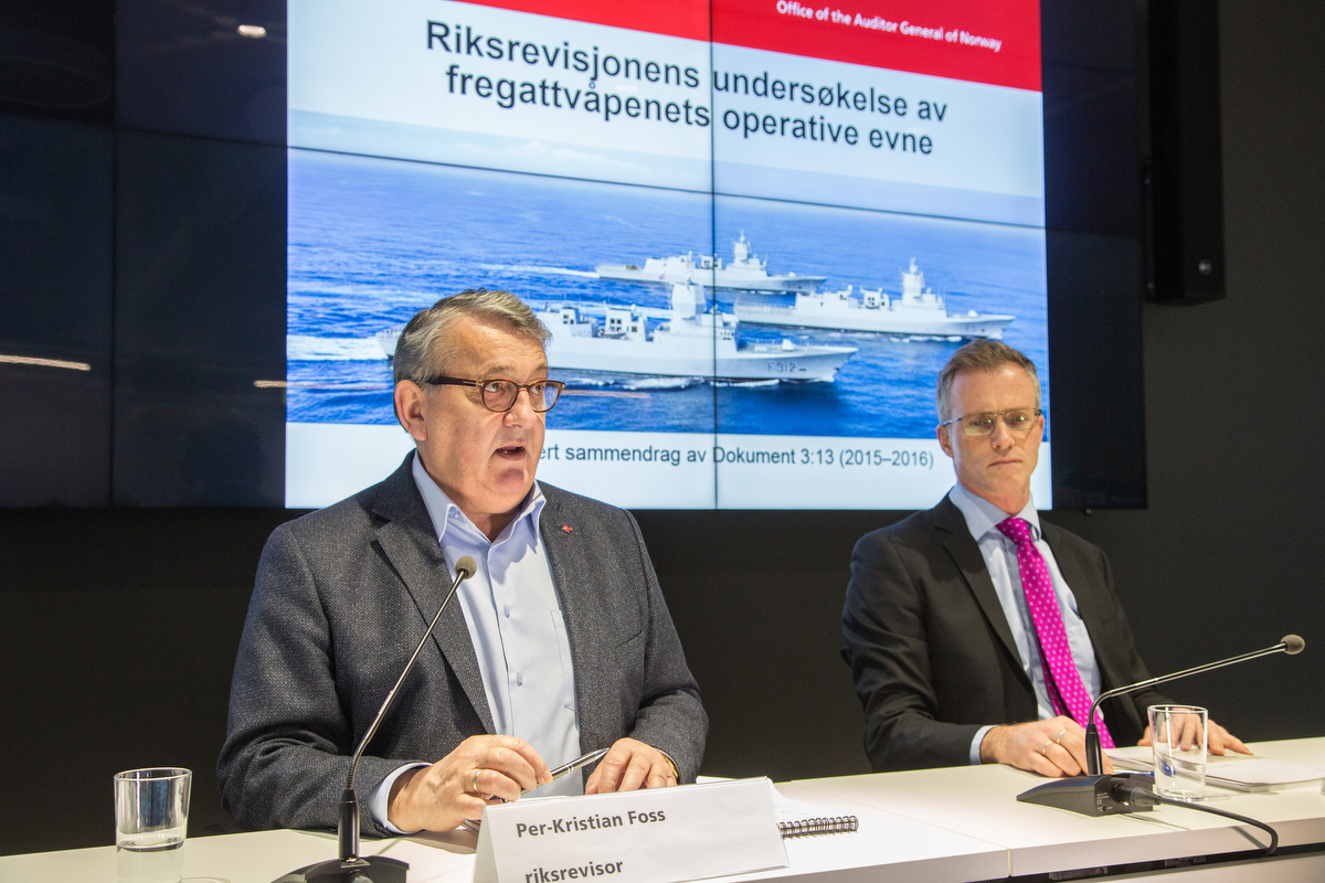KRITISK: Riksrevisor Per-Kristian Foss er meget kritisk til hva Norge har fått ut av fregattvåpenet. «Store mangler» er konklusjonen i en ny rapport. Foto: FREDRIK NAUMANN/FELIX FEATURES