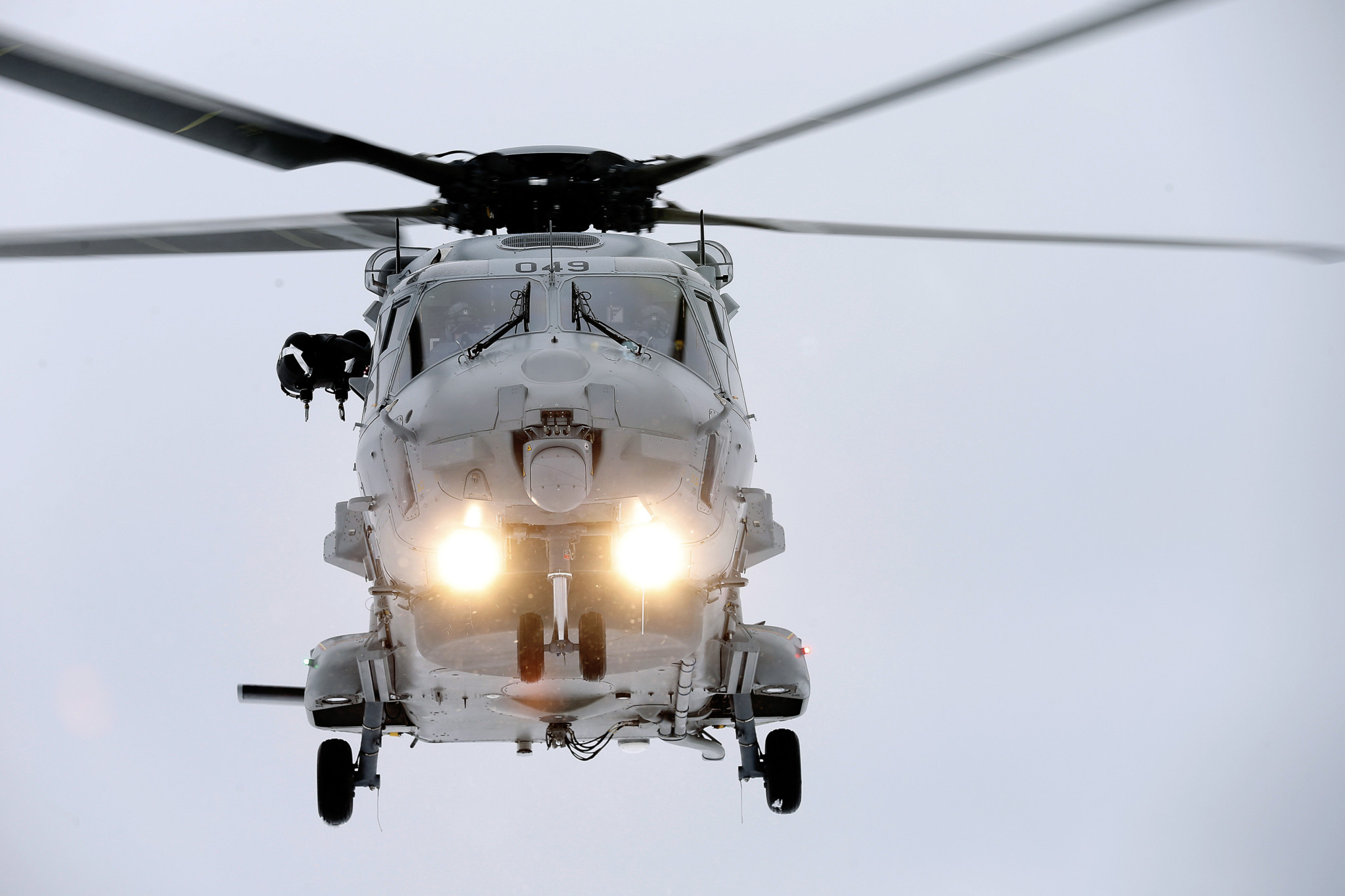 Det maritime helikopteret NH90 under testing på Bardufoss flystasjon under vinterøvelsen Cold Response 2014 / The maritime helicopter NH90 due to testing at Bardufoss airstation during the winter exercise Cold Response 2014