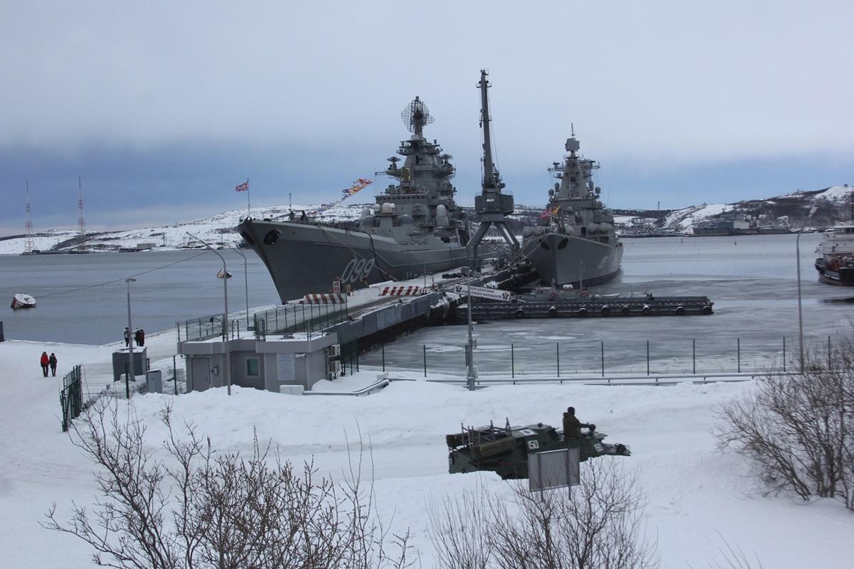 the largest vessel is pyotr velikiy russian kirov class