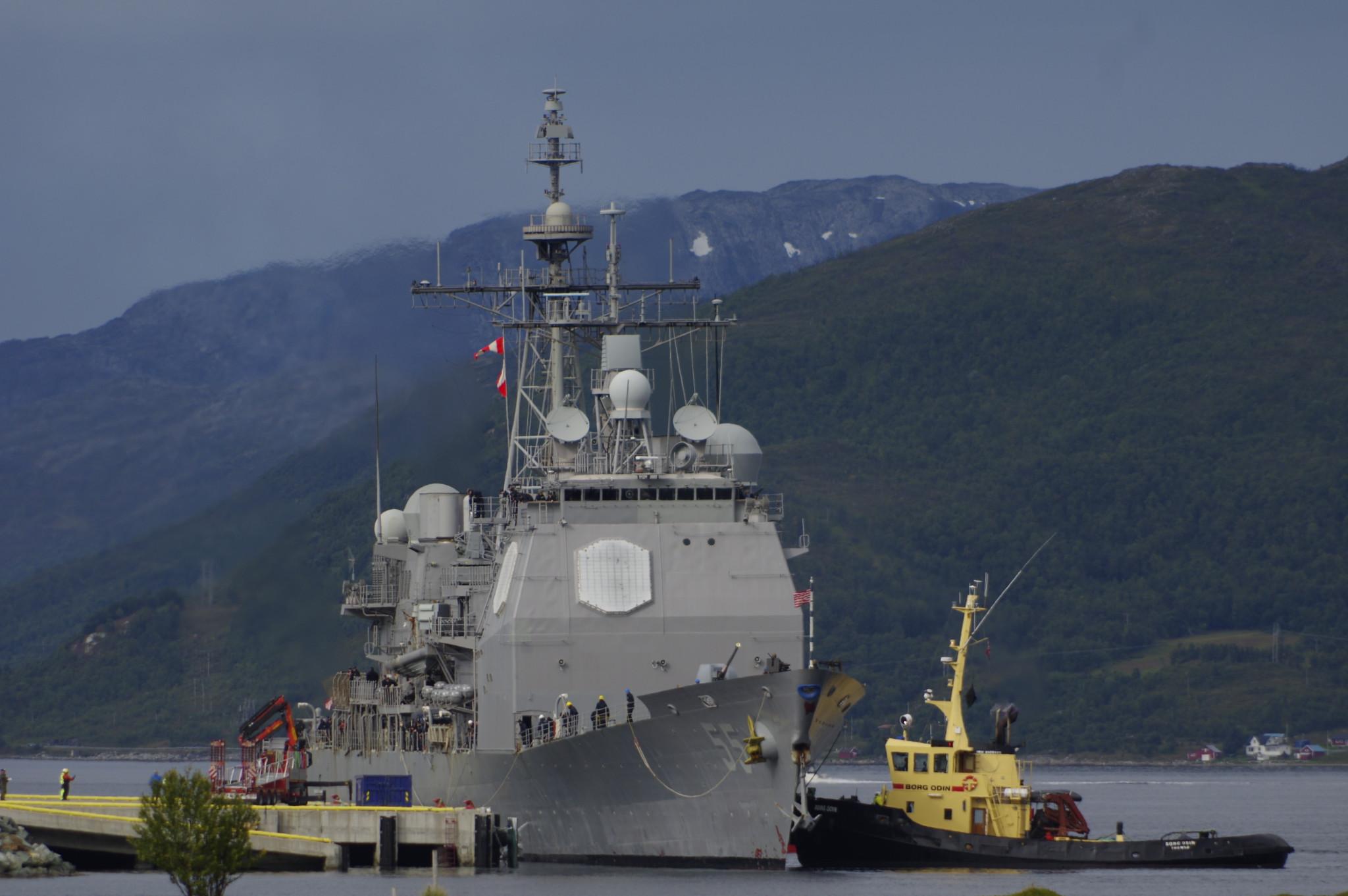 Amerikansk missilkrysser i Tromsø