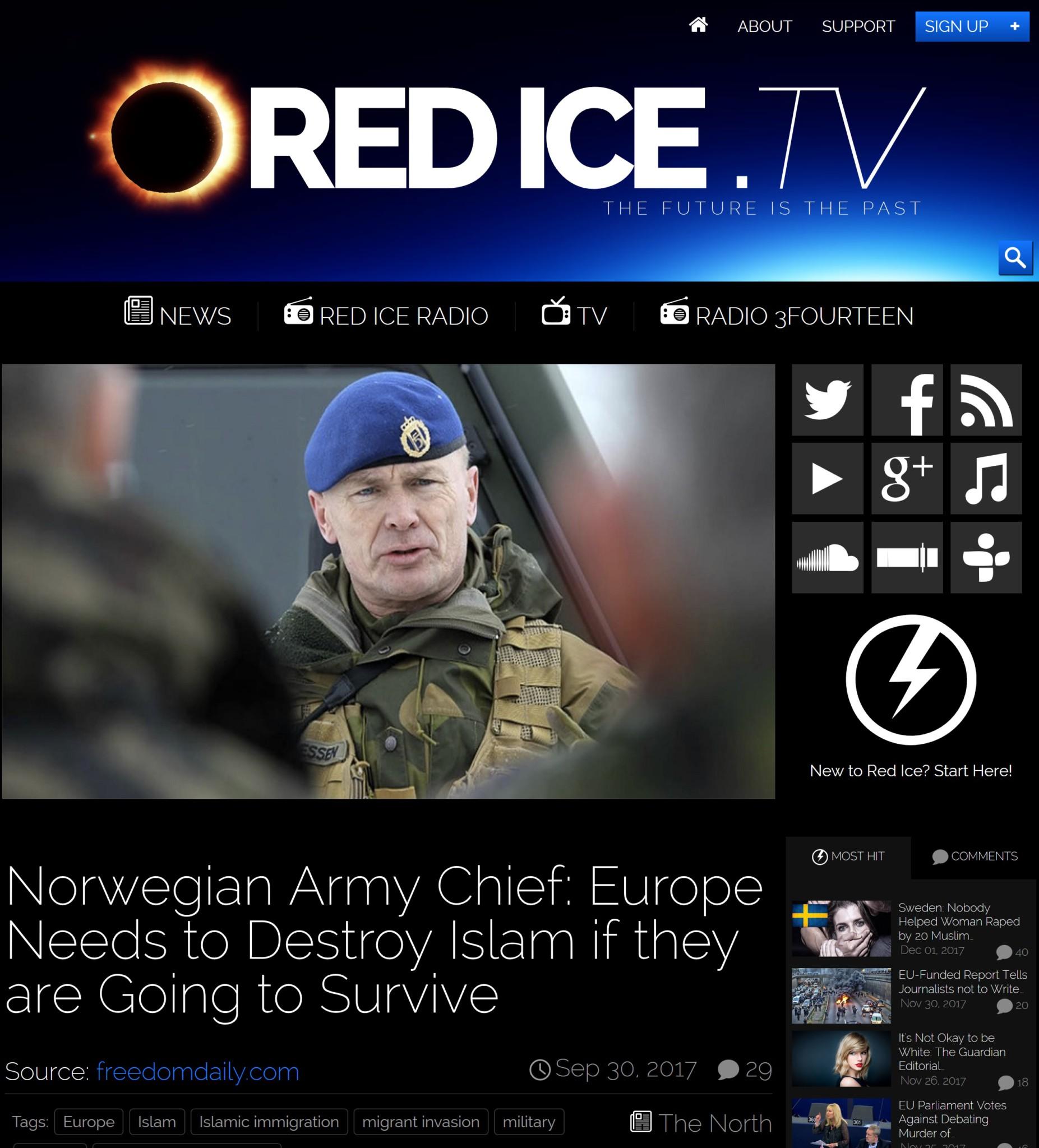 Russland trolig bak falske nyheter om hærsjef Odin Johannessen