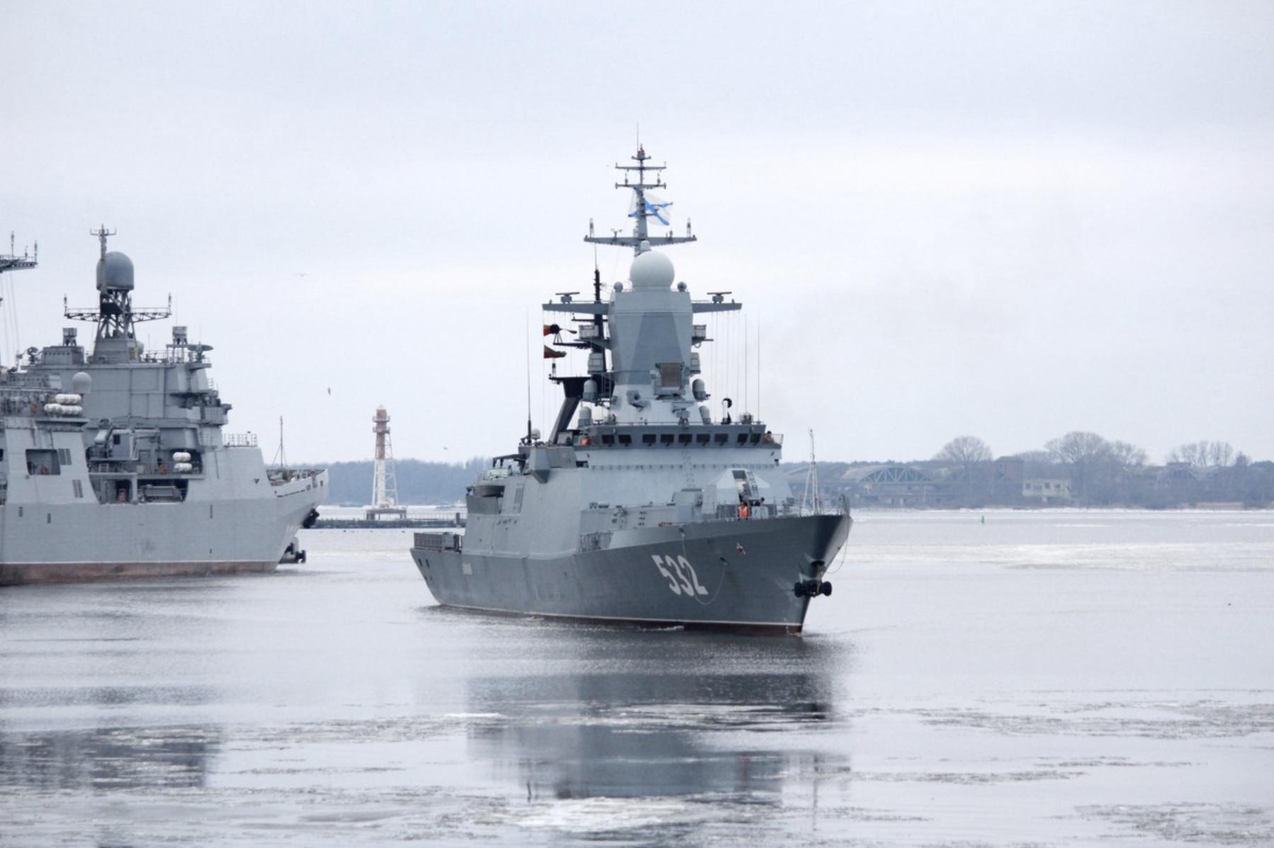 20 russiske krigsskip i baltisk øvelse