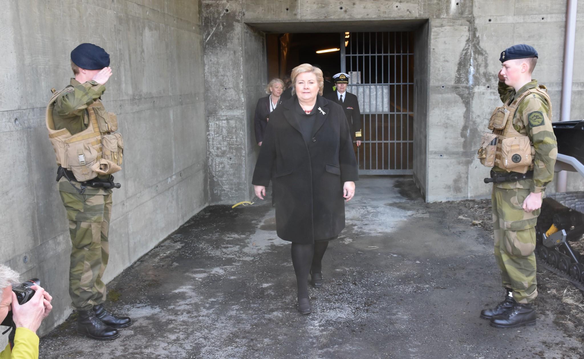 Statsminister Erna Solberg på Evenes flystasjon sommeren 2018. Foto: ALF RAGNAR OLSEN / ALDRIMER.NO
