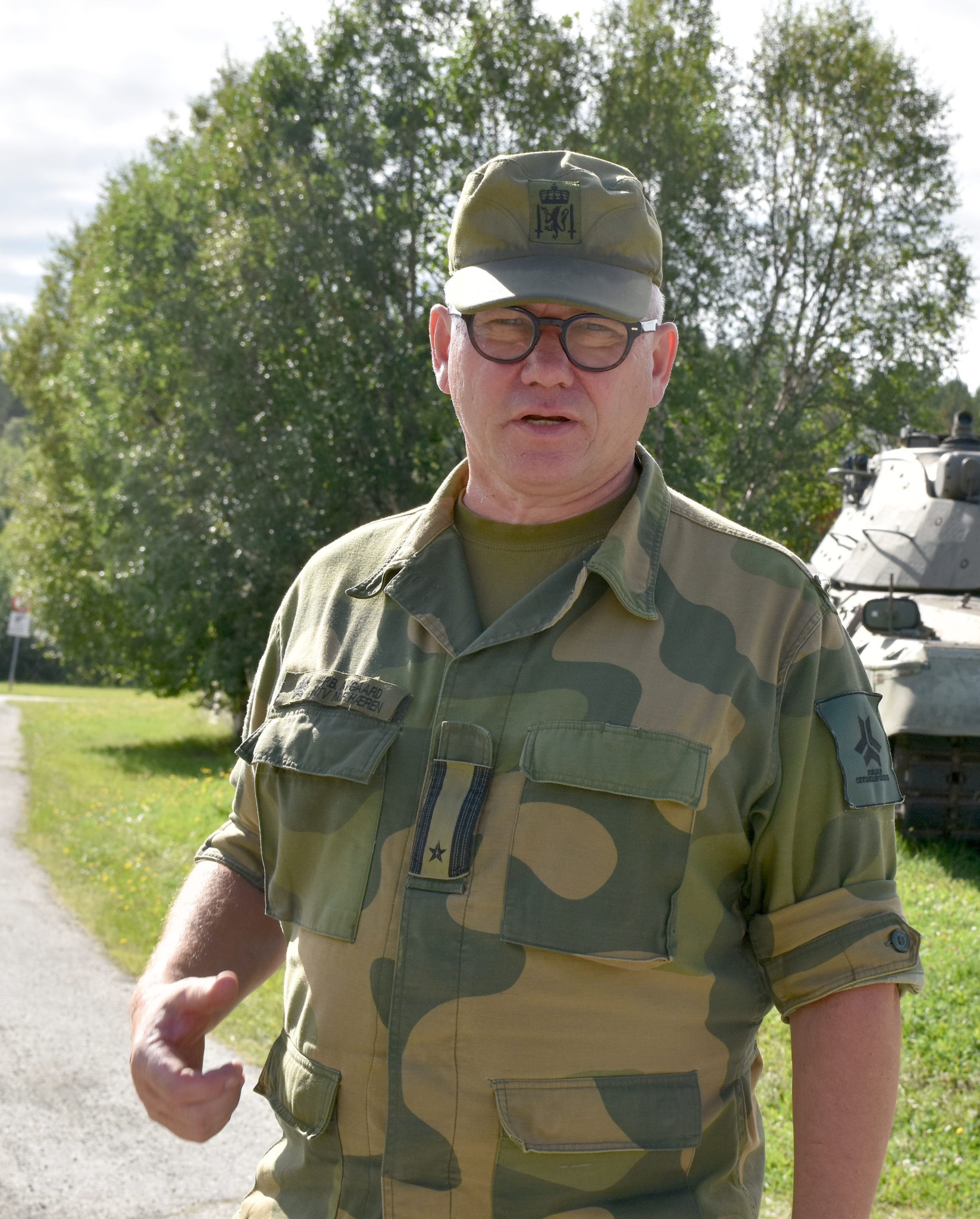 hovedtillitsvalgt Pål B. Nygaard for Hæren. Foto tatt ved museet på Setermoen, august 2018. Foto: ALF RAGNAR OLSEN/ALDRIMER.NO