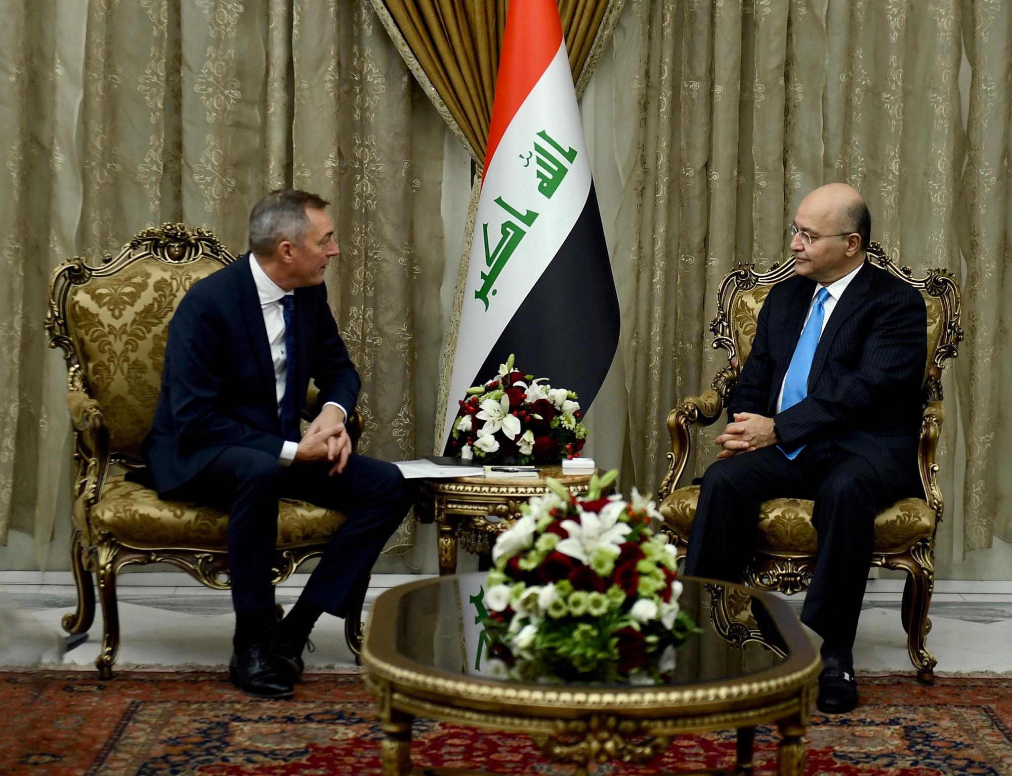 Bakke-Jensen møtte Iraks president